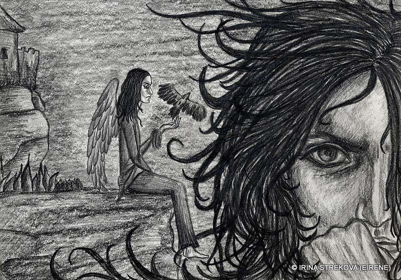 рисунки карандашом ангелов и демонов: